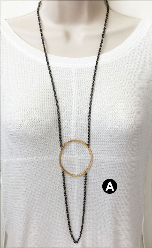 Rolo Hoop Necklace  (N1371) - DanaReedDesigns