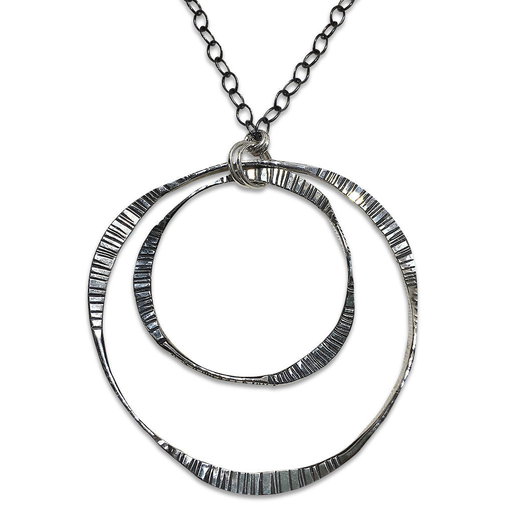 Long Double Mobius Necklace (N1547) - DanaReedDesigns