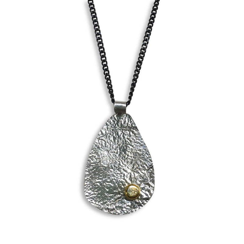 Reticulated Pod with 14K Dot Necklace (N1561) - DanaReedDesigns