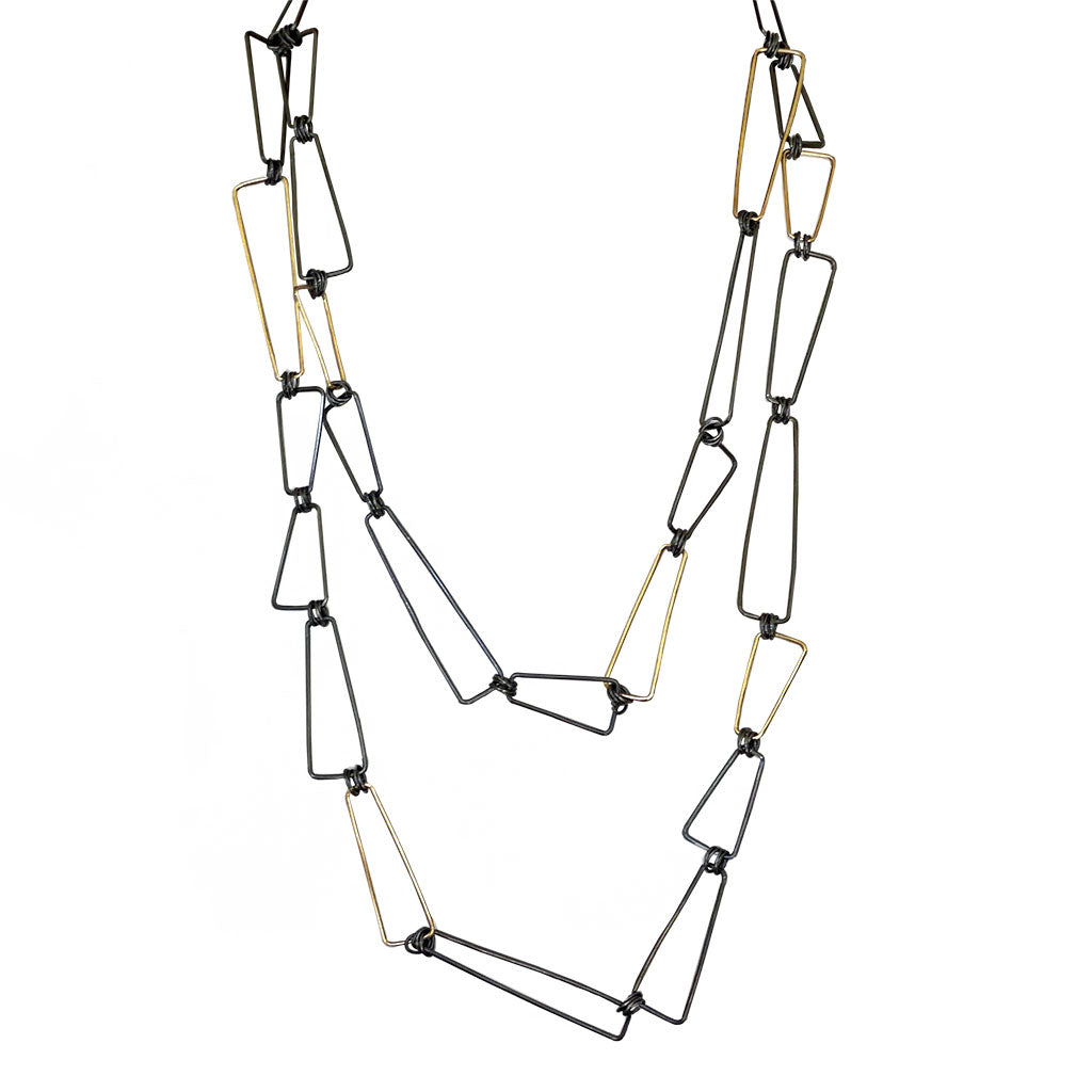 "40"" Linked Trapezoid Necklace (N1675)"
