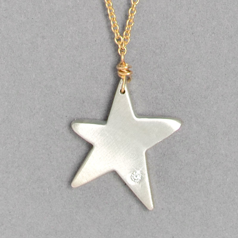 Diamond Star Necklace  (N1273MGd) - DanaReedDesigns