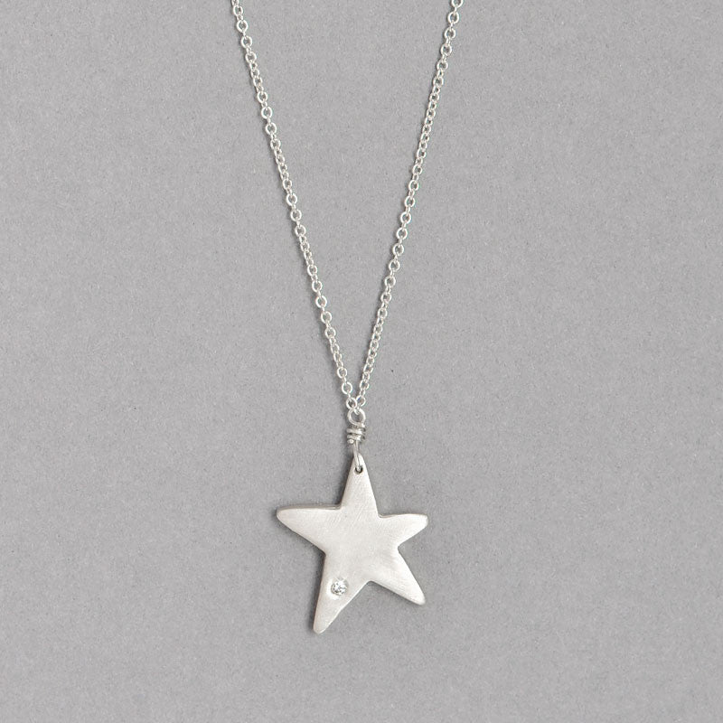 Diamond Star Necklace  (N1273Sd) - DanaReedDesigns - 2