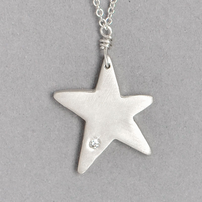 Diamond Star Necklace  (N1273Sd) - DanaReedDesigns
