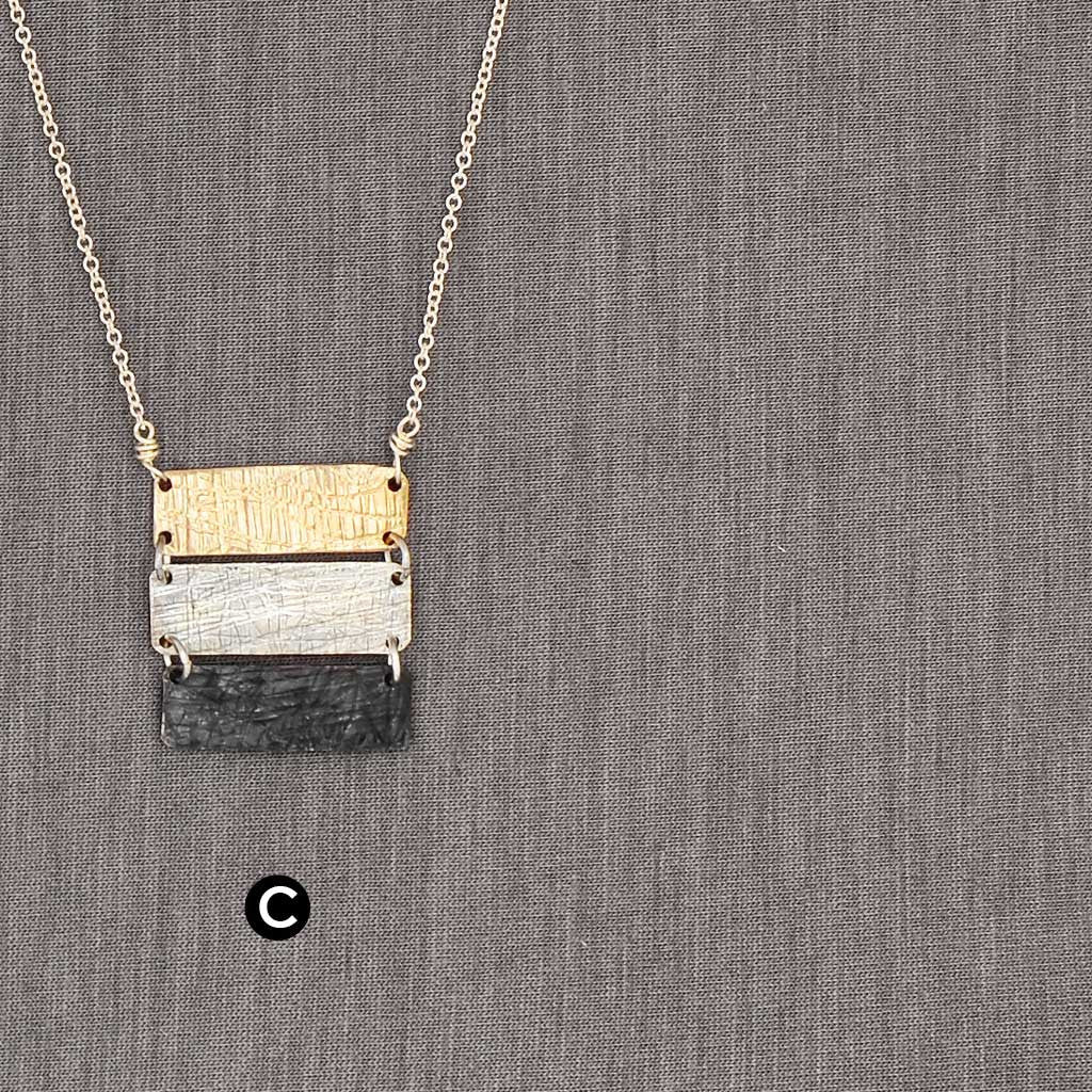 Triptych Rectangles Necklace (N1222) - DanaReedDesigns