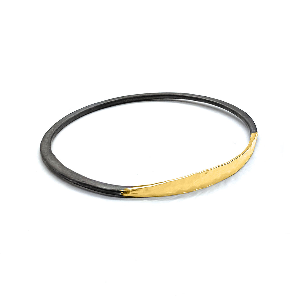 Satin Shiny Eclipse Bangle (B342) - DanaReedDesigns