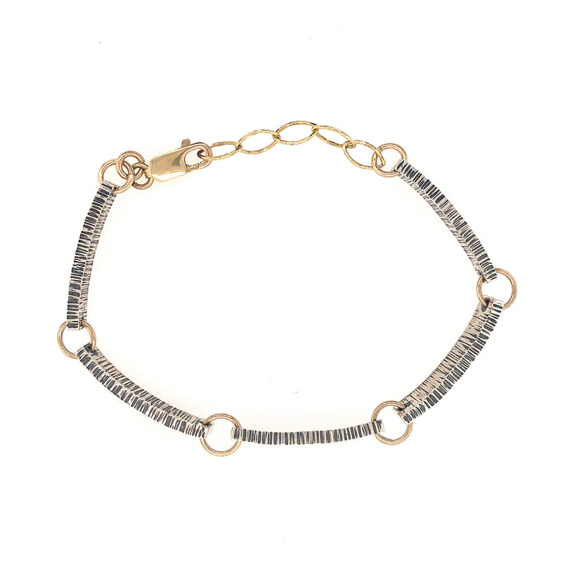 Linked Lined Bar Bracelet (B359) - DanaReedDesigns