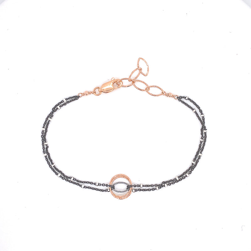 Small Diamond Cut Cat's Eye Bracelet (B362) - DanaReedDesigns