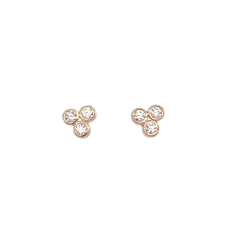 Trifecta Diamond Post Earrings (E1738) - DanaReedDesigns