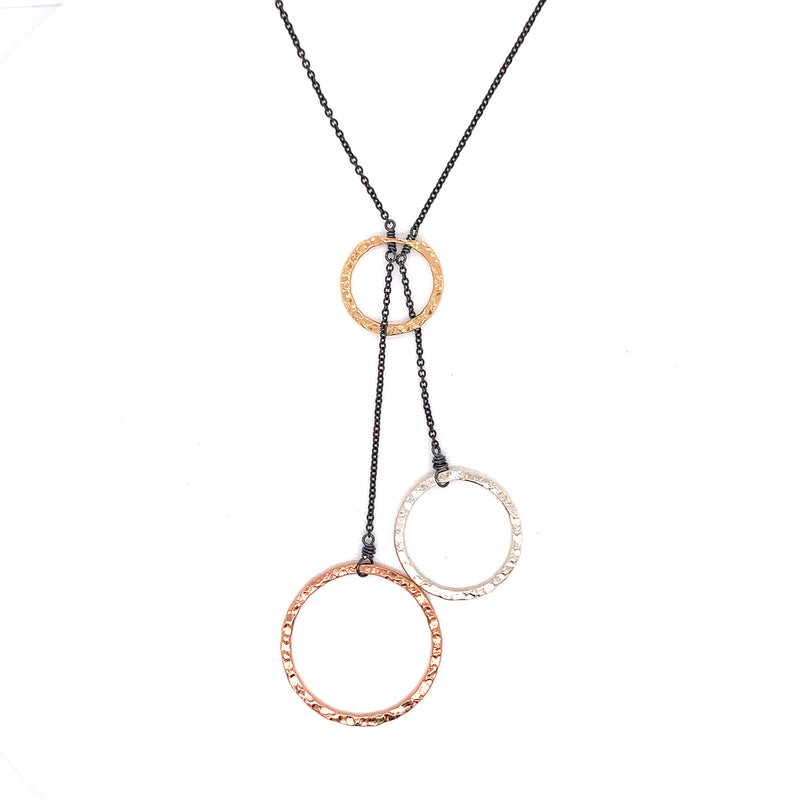 Small 3 Hoop Lariat Necklace (N1467) - DanaReedDesigns