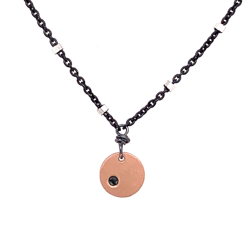 Diamond Circle Necklace (N1798) - DanaReedDesigns
