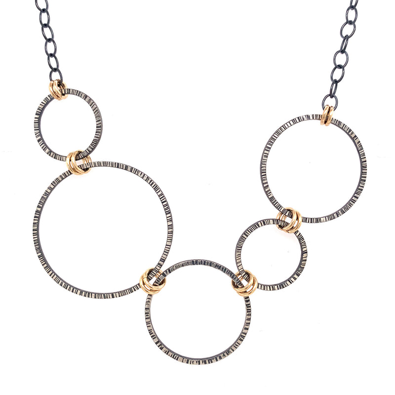 Large Lined hoops Necklace (N1857) - DanaReedDesigns