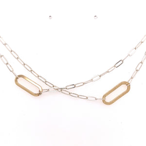 Off Center Ovals Necklace (N1868) - DanaReedDesigns