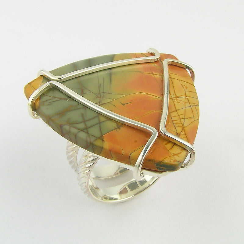 Orange Jasper Ring - DanaReedDesigns