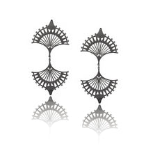 Double Central Rhodium earrings