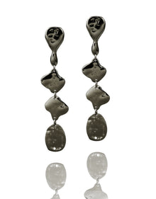 ETHIOPIA Rhodium earrings