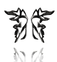 MORPHO RHODIUM EARRINGS