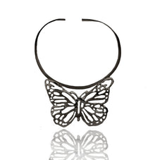PAPILIONEM Rhodium necklace