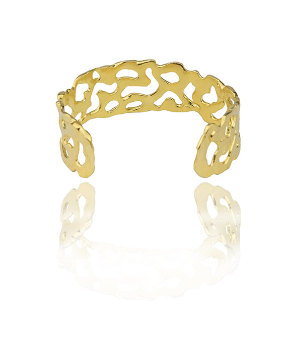 MELTED Gold cuff small