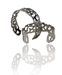 MELTED Rhodium cuff SMALL