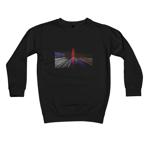 LONDON NIGHTS: THE LONDON EYE Kids Sweatshirt - Amy Adams Photography