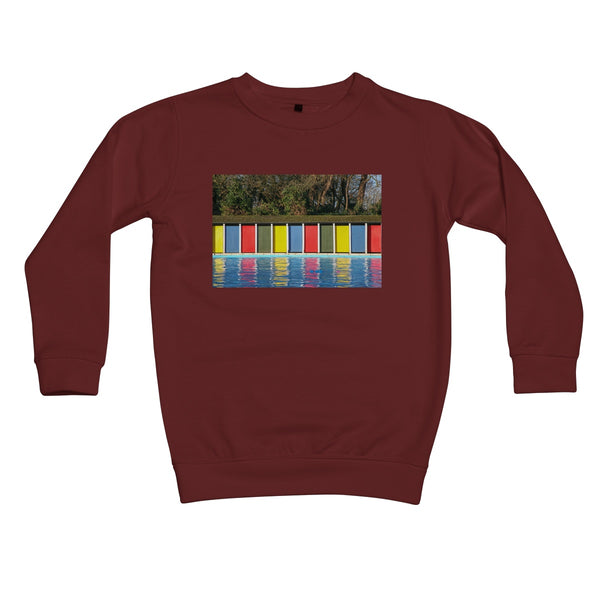 TOOTING BEC LIDO DOORS Kids Sweatshirt - Amy Adams Photography