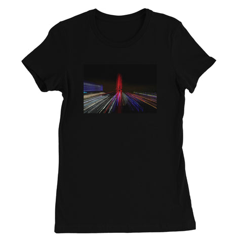 LONDON NIGHTS: THE LONDON EYE Women's Fitted T-Shirt - Amy Adams Photography