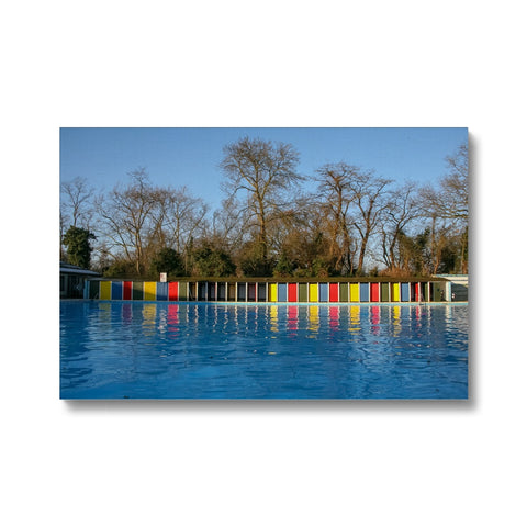TOOTING BEC LIDO WITH TREES Canvas - Amy Adams Photography