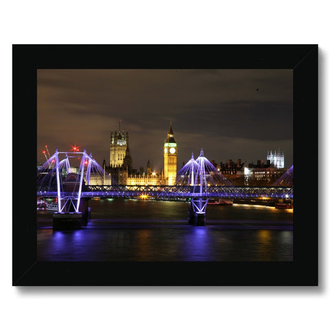 LONDON NIGHTS: THE HOUSES OF PARLIAMENT Framed Print - Amy Adams Photography