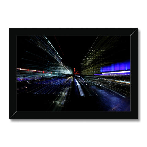 LONDON NIGHTS: CHAOS Framed Print - Amy Adams Photography