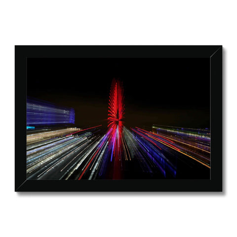 LONDON NIGHTS: THE LONDON EYE Framed Print - Amy Adams Photography