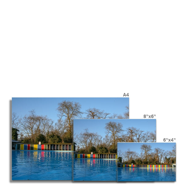 TOOTING BEC LIDO WITH TREES Hahnemühle Photo Rag Print - Amy Adams Photography