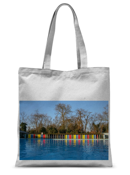 TOOTING BEC LIDO WITH TREES Sublimation Tote Bag - Amy Adams Photography