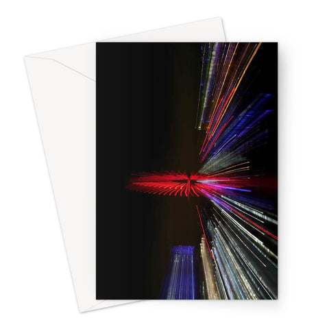 LONDON NIGHTS: THE LONDON EYE Greeting Card - Amy Adams Photography