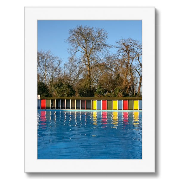 TOOTING BEC LIDO WITH TREES Framed Print - Amy Adams Photography