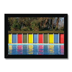 TOOTING BEC LIDO DOORS Framed Print - Amy Adams Photography