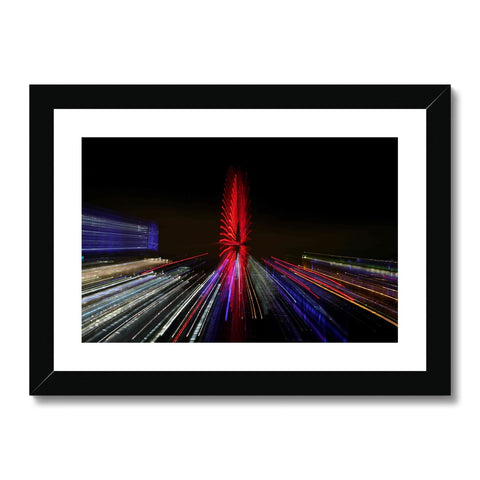 LONDON NIGHTS: THE LONDON EYE Framed & Mounted Print - Amy Adams Photography