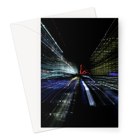 LONDON NIGHTS: CHAOS Greeting Card - Amy Adams Photography