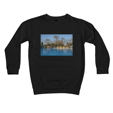 TOOTING BEC LIDO WITH TREES Kids Sweatshirt - Amy Adams Photography