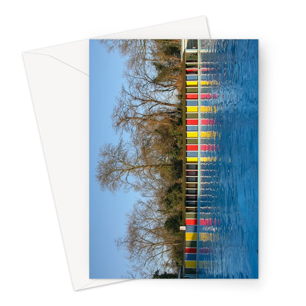 TOOTING BEC LIDO WITH TREES Greeting Card - Amy Adams Photography