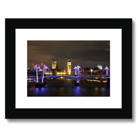 LONDON NIGHTS: THE HOUSES OF PARLIAMENT Framed & Mounted Print - Amy Adams Photography