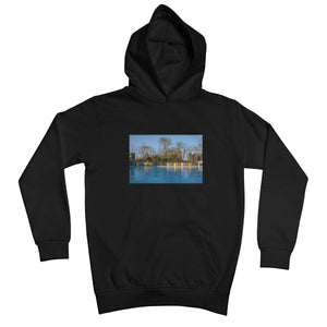 TOOTING BEC LIDO WITH TREES Kids Hoodie - Amy Adams Photography