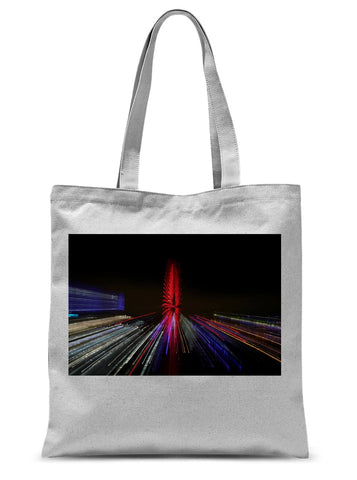 LONDON NIGHTS: THE LONDON EYE Sublimation Tote Bag - Amy Adams Photography