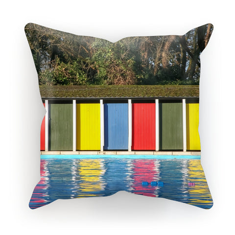 TOOTING BEC LIDO DOORS Cushion - Amy Adams Photography