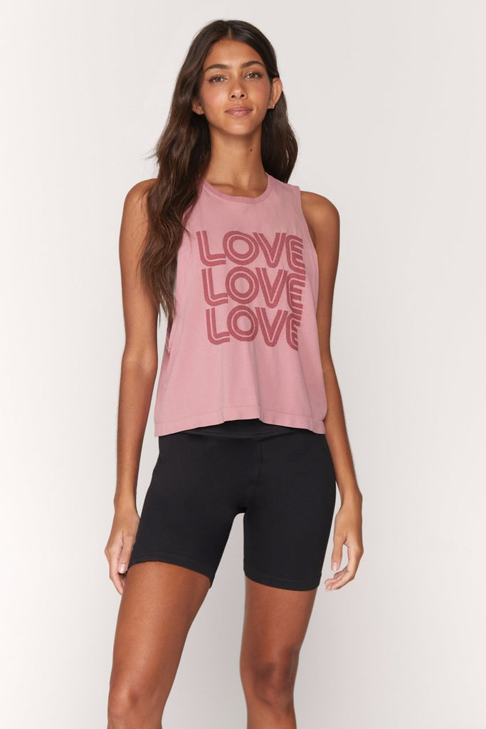 Spiritual Gangster Love Active Flow Tank, Shop Raleigh Bird