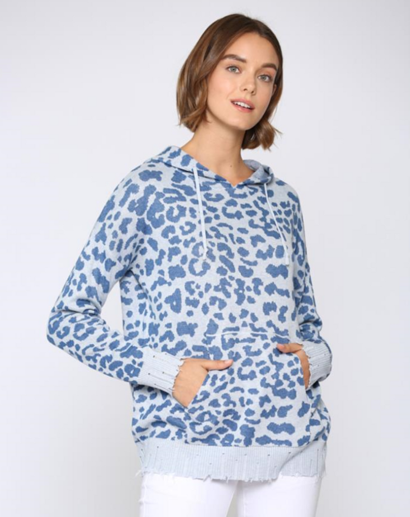 Leopard Print Hoodie Sweater, Shop Raleigh Bird
