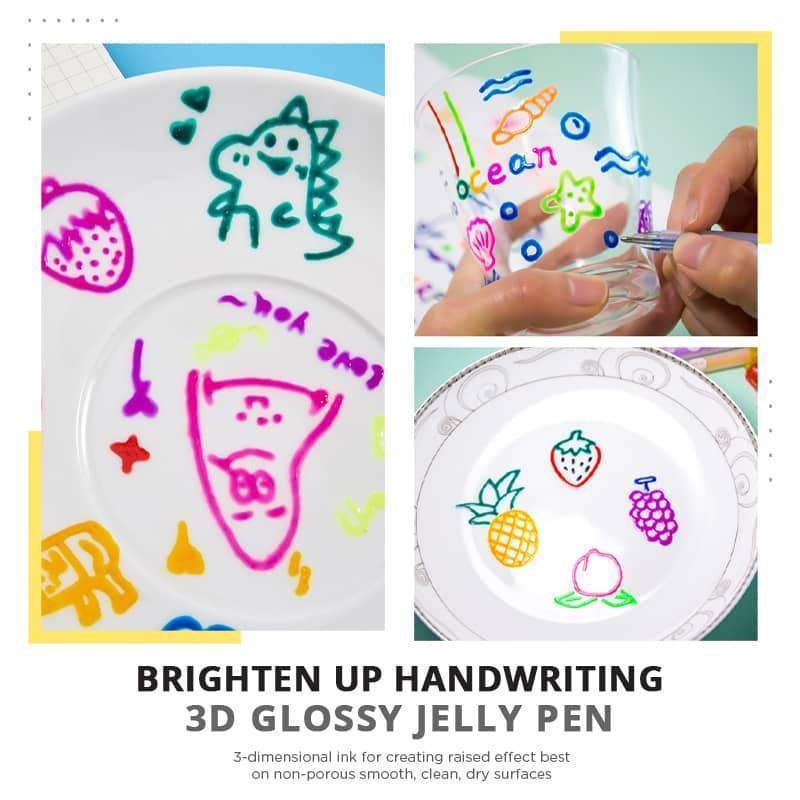 (50% OFF) 3D Glossy Jelly Ink Pen (12Pcs /pack)