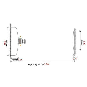 304 Stainless Steel Telescopic Clothesline