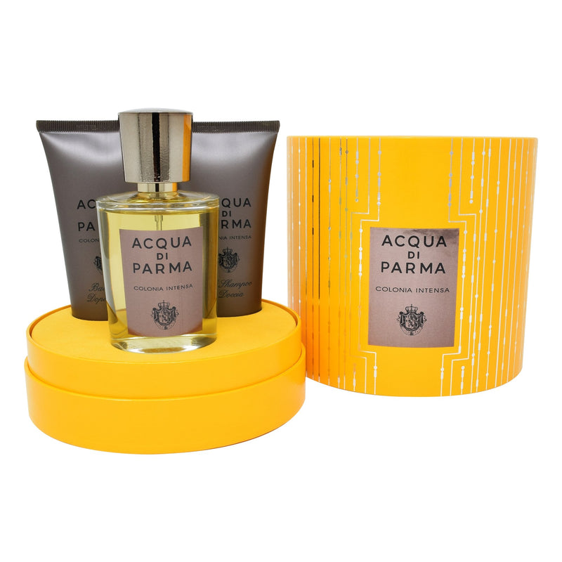 Set  Acqua Di Parma Colonia Intensa 3Pzs 100ml EDC Spray/ Shower Gel 75ml/ After Shave 75ml