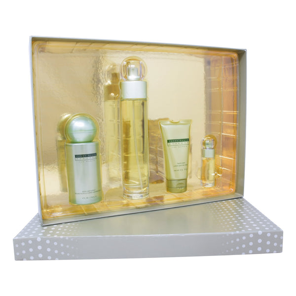 Set Perry Ellis Reserve Women 4Pzs 100ml EDP Spray/ Hand Cream 57G/ Body Mist 118ml/ 7.5ml EDP Spray
