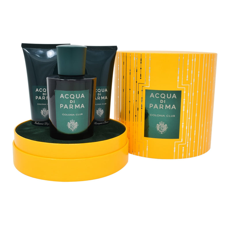 Set  Acqua Di Parma Club 3Pzs 100ml EDC Spray/ Showe Gel 75ml/ After Shave 75ml